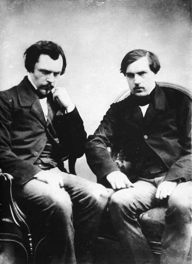 ادوارد دوگونکور(سمت چپ) به همراه برادش ژول عکاس: فلیکس نادار
