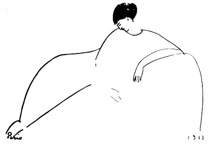 طرح مودیلیانی از آنا آخماتووا