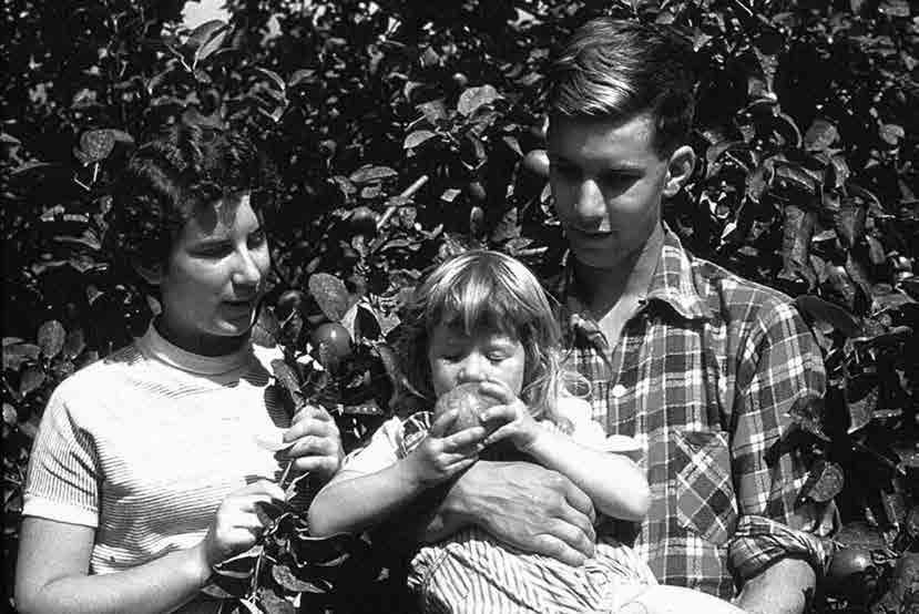 مارگارت آتوود به همراه برادر و خواهرش،1954