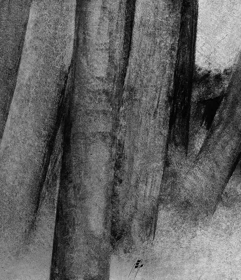 بدون عنوان رنگ روغن روی بوم، اثر سهراب سپهری